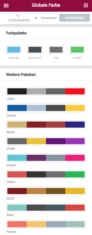 Globale Farben