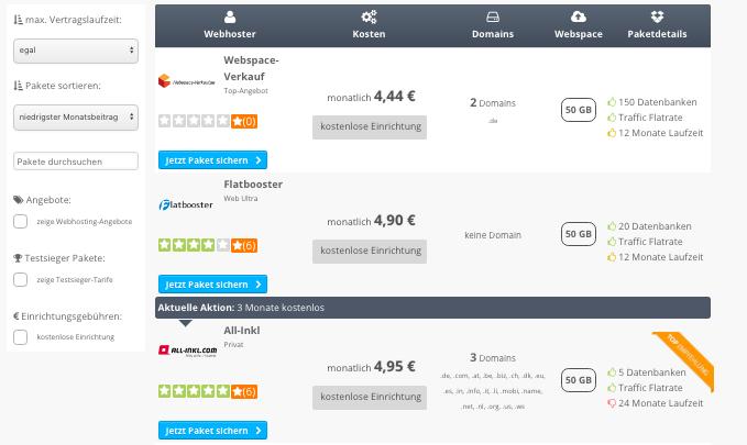 Webhosting-Vergleich aktuell1