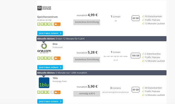 Webhosting-Vergleich aktuell2