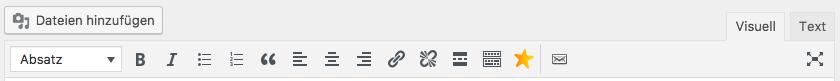 Werkzeugleiste WP-Editor