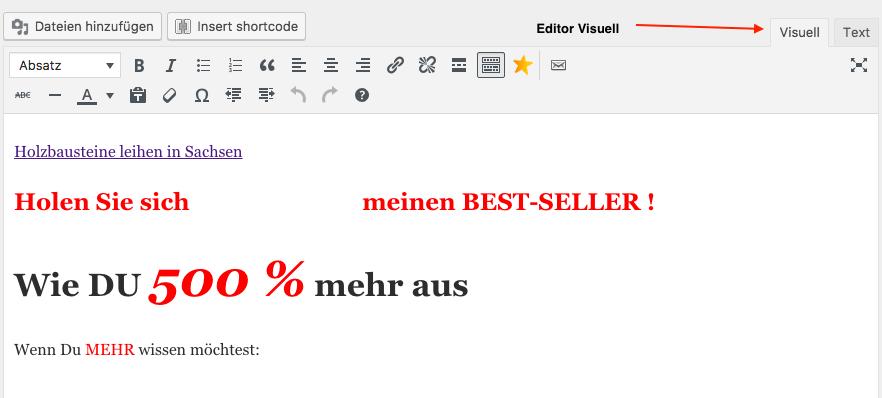 Beitrags-Editor-Visuell