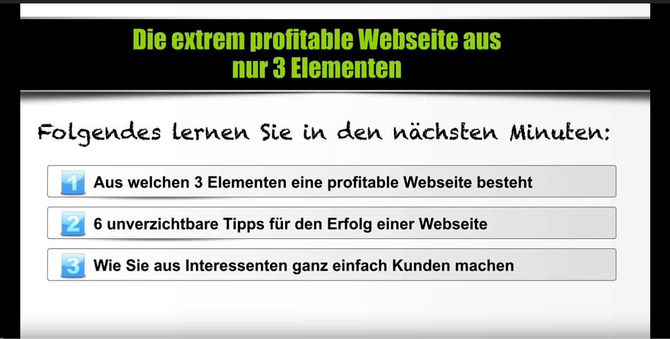 Das Geheimnis enorm profitabler Webseiten