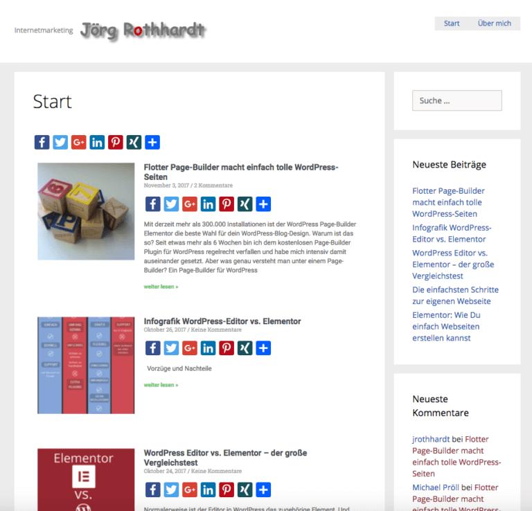 Startseite JoergRothhardt.de