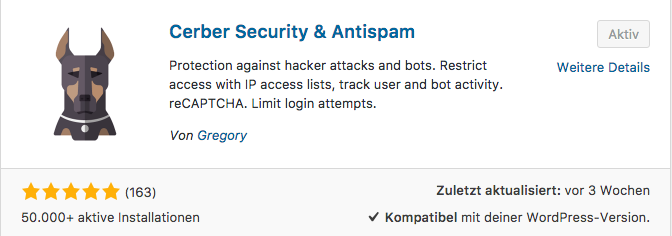 WP-Cerber Security & Antispam-Plugin