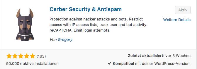 WP-Cerber Security & Antispam-Plugin