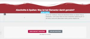 Abschnitte & Spalten