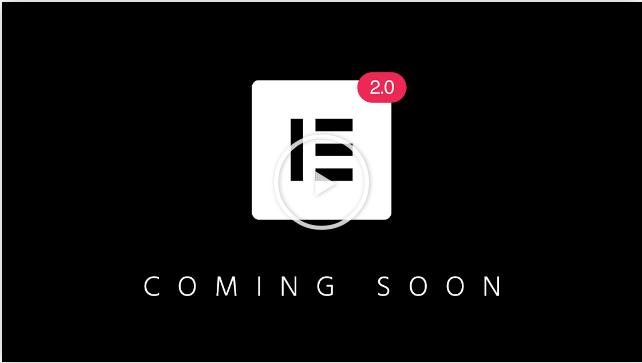 Elementor 2.0 startet bald