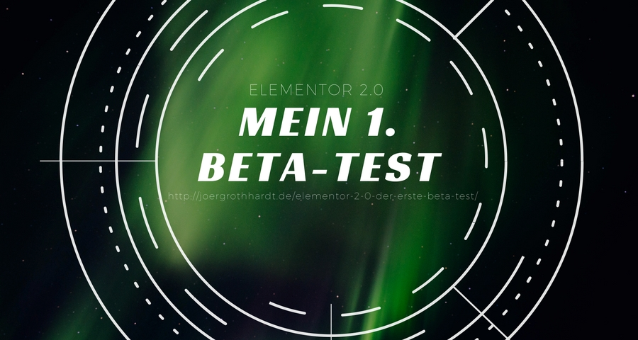 Elementor 2.0 - Mein 1. Beta - Test