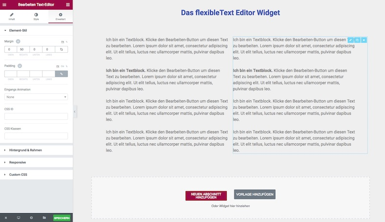 Ellementor Text-Editor-Widget