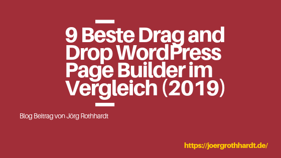 9 Beste Drag and Drop WordPress Page Builder im Vergleich (2019)