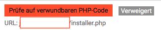 Prüfe auf verwundbaren PHP-Code