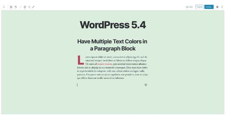 Farbänderungen im Beitrag-Text