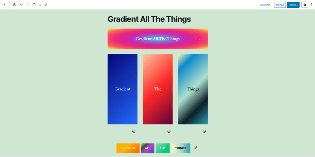 gradient-all-the-things